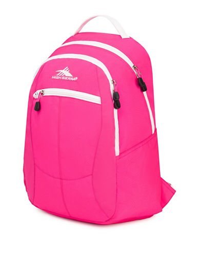 High Sierra Textured Curve Backpack-PINK-One Size