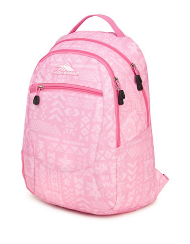 High Sierra Printed Curve Backpack-PINK-One Size