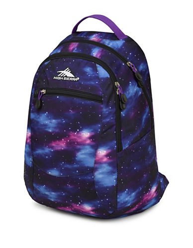 High Sierra Abstract Curve Backpack-BLUE-One Size