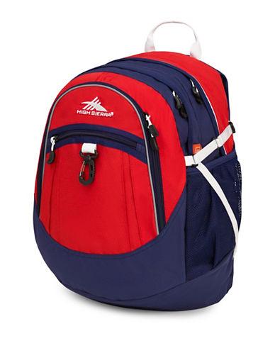 High Sierra Colourblock Fatboy Backpack-ORANGE-One Size
