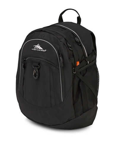 High Sierra Textured Fatboy Backpack-BLACK-One Size