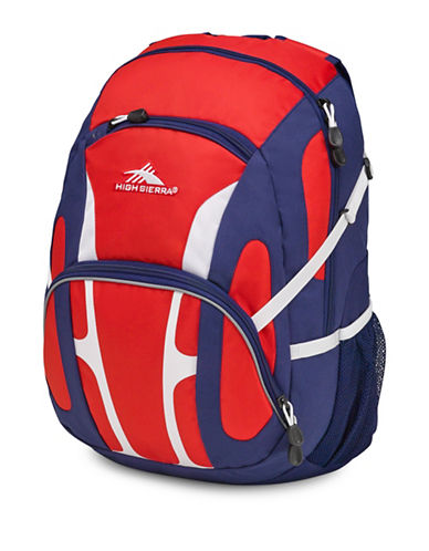 High Sierra Composite Mini-Waffle Weave Ripstop Backpack-RED-One Size