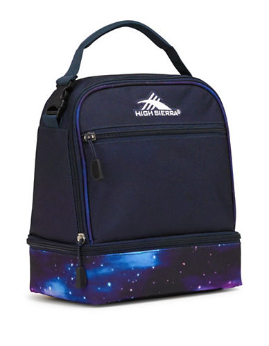 High Sierra Galaxy Stacked Compartment Lunch Bag-BLUE-One Size