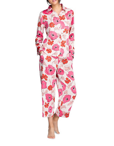 Kate Spade New York Charmeuse Pyjamas-PINK-Large