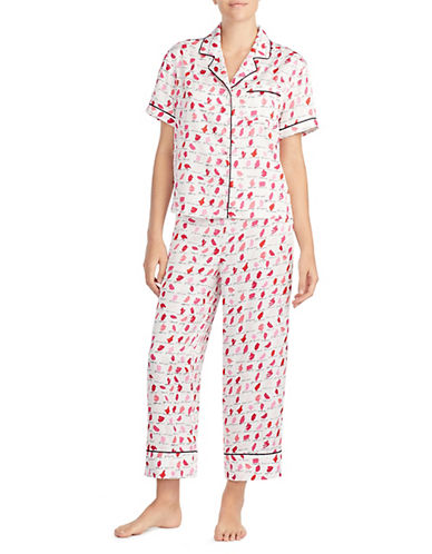 Kate Spade New York Dotted Capri Pyjamas-MULTI PRINT-X-Large