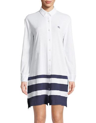 Lauren Ralph Lauren Colourblock Cotton Sleepshirt 89722810