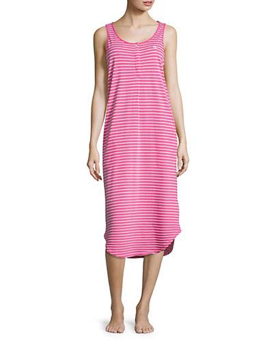 Lauren Ralph Lauren Striped Tank Nightgown-PINK-Medium 89985776_PINK_Medium