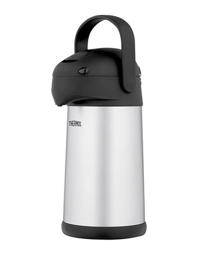 Thermos 2.5L Vacuum Insulated Stainless Steel Pump Pot-SILVER-2.5L