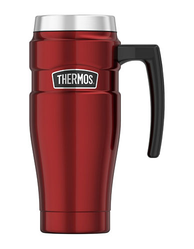 Thermos Vacuum Insulated Stainless Steel Travel Mug-RED-One Size