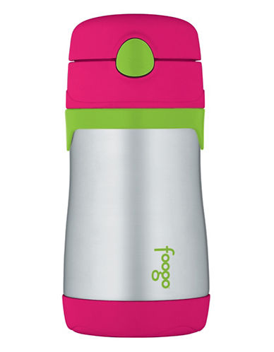 Thermos Insulated Stainless Steel 290ml Straw Bottle-PINK-One Size