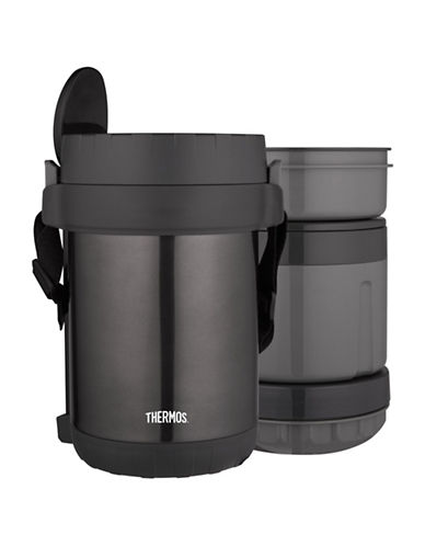 Thermos 1.8L Stainless Steel Vacuum Insulated All-In-One Food Jar-BLACK-One Size