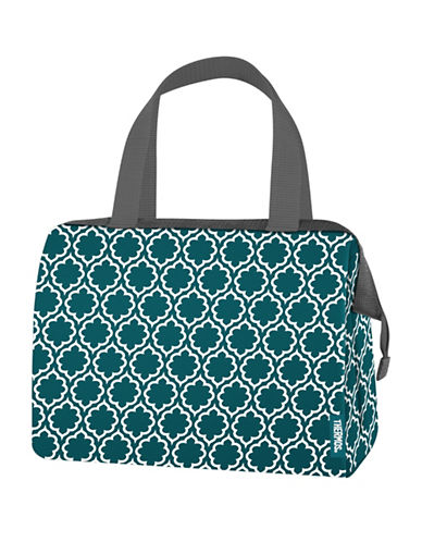 Thermos Raya Lattice 9-Can Lunch Duffle Bag-TEAL-One Size