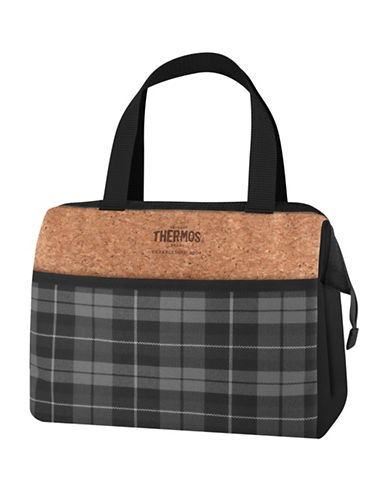 Thermos Heritage Plaid 9-Can Lunch Duffle Bag-GREY-One Size