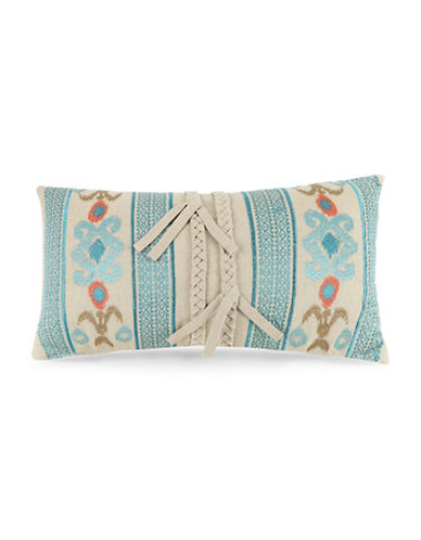 Jessica Simpson Embroidered Braided Trim Pillow-MULTI-12x20