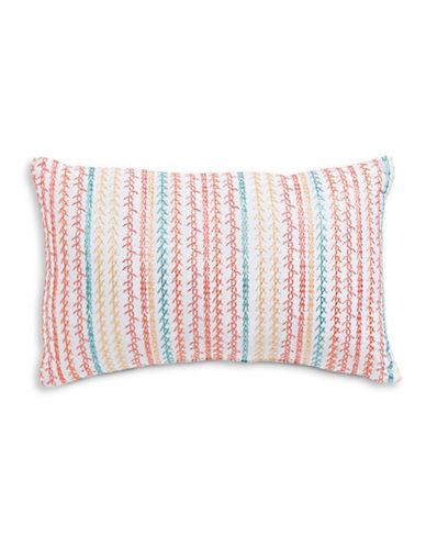 Jessica Simpson Embroidered Cushion-MULTI-COLOURED-18x12