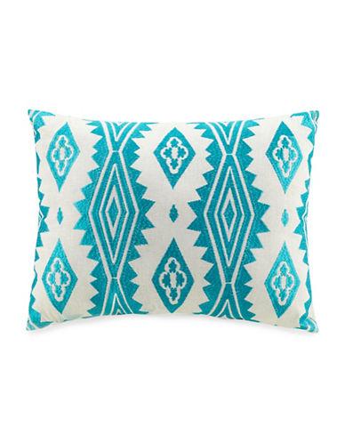 Jessica Simpson Aquarius Geometric Cushion-BLUE-One Size