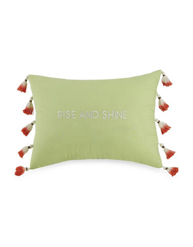 Jessica Simpson Watercolour Garden Embroidered Pillow-GREEN-One Size