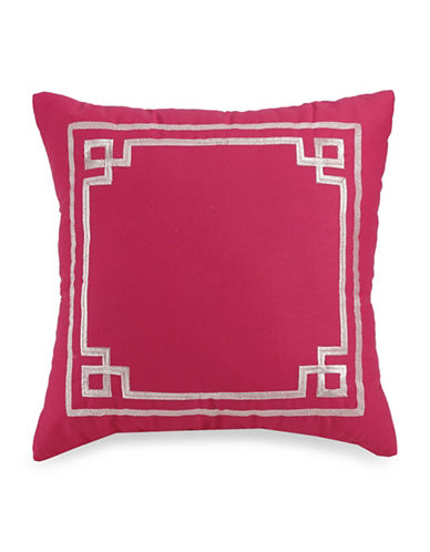 Jessica Simpson Watercolour Garden Square Pillow-PINK-One Size