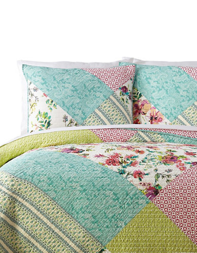 Jessica Simpson Edena 140 Thread-Count Three-Piece Quilt Set-MULTI-Queen
