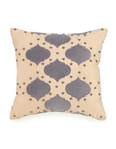 Jessica Simpson Puebla Stud Throw Pillow-GREY MULTI-16X16