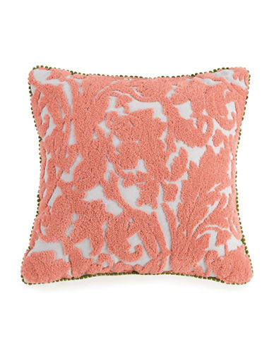 Jessica Simpson Terry Loop Cotton Throw Pillow-PINK-16X16