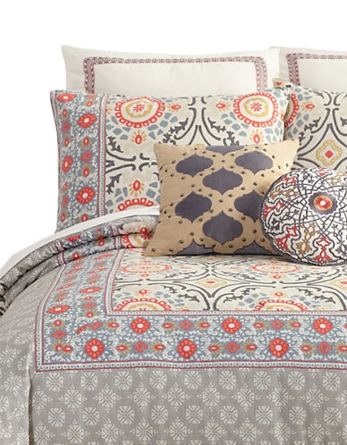 Jessica Simpson Puebla Cotton Duvet Cover Set-GREY MULTI-Queen