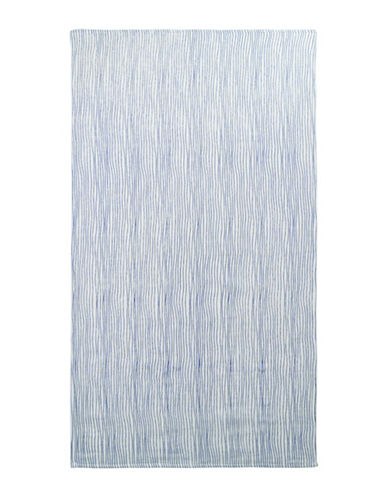 Uchino Twist Stripe Bath Towel-IVORY/BLUE-Bath Towel