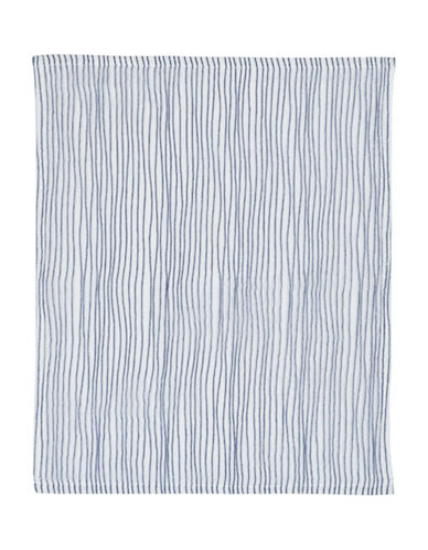 Uchino Twist Stripe Wash Cloth-IVORY/BLUE-Washcloth