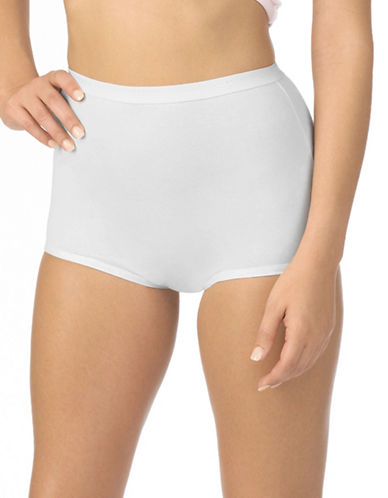 Jockey Two-Pack Jockey Silks Full Brief Panties-WHITE-9