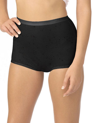 Jockey Two-Pack Jockey Silks Full Brief Panties-BLACK-8