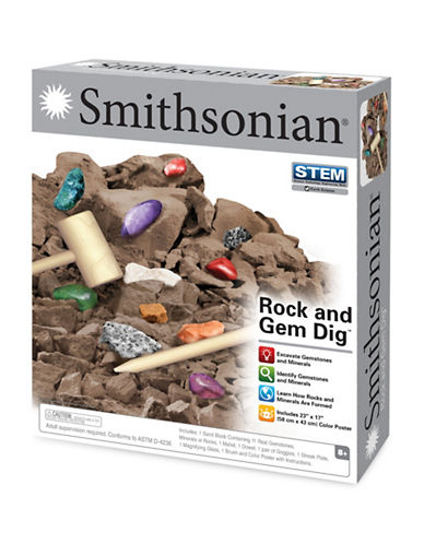 Smithsonian Rock and Gem Dig Set-MULTI-One Size