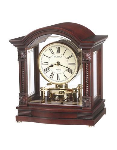 Bulova Bardwell Wood Pendulum Mantel Clock-CHERRY-One Size