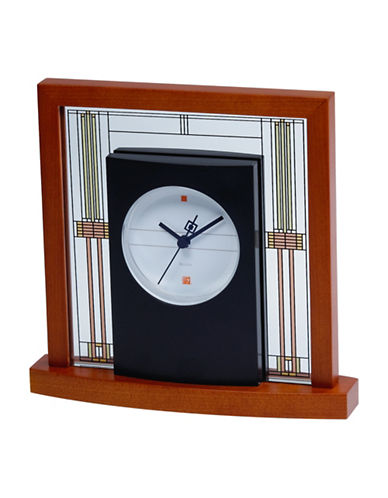 Bulova Willits Glass Panel Table Clock-CHERRY-One Size