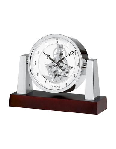 Bulova Largo Skeleton Table Top Clock-MAHOGANY-One Size