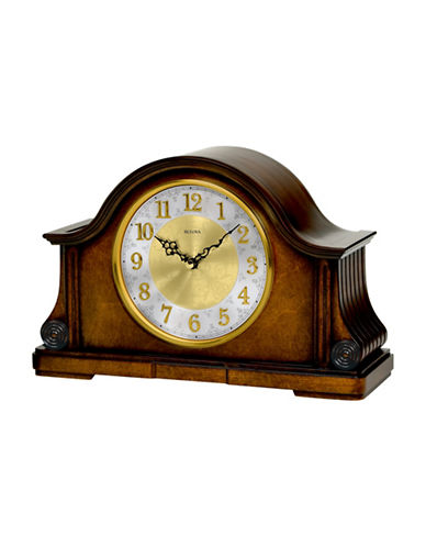 Bulova Chadbourne Wood Mantel Clock-WALNUT-One Size