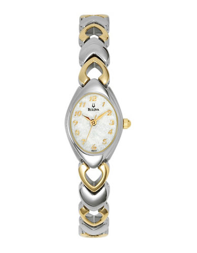 Bulova Quartz Watch-TWO TONE-One Size