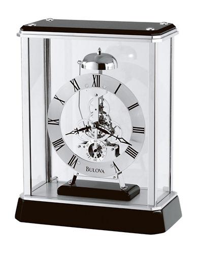 Bulova Vantage High Gloss Wood Mantel Clock-BLACK-One Size