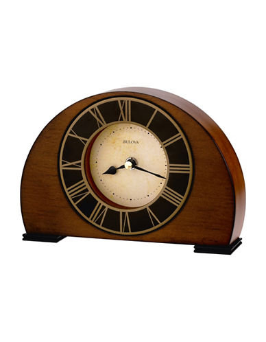 Bulova Tremont Harwood Parchment Clock-CHERRY-One Size