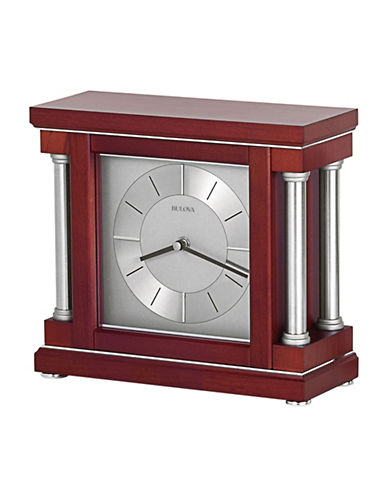 Bulova Amblance Column Wood Mantel Clock-CHERRY-One Size