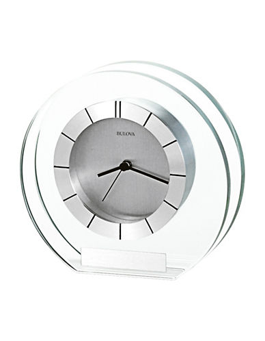 Bulova Accolade Circle Glass Clock-SILVER-One Size