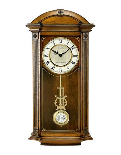 Bulova Hartwick Wood Pendulum Clock-OAK-One Size