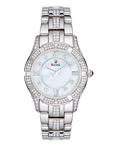 Bulova Ladies Dress Watch-WHITE-One Size