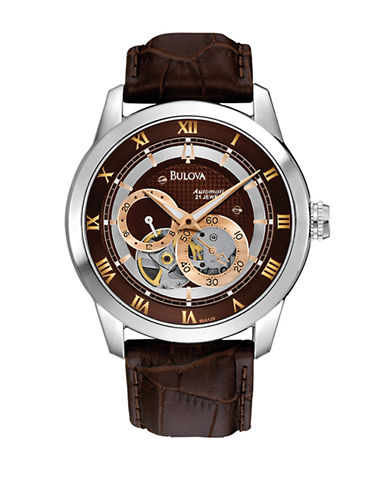 Bulova Bulova Mens Mechanical Watch-BROWN-One Size