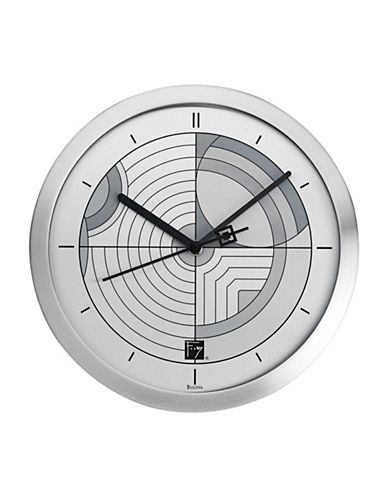 Bulova Linear-Motif Round Wall Clock-GREY-One Size