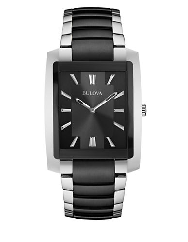 Bulova Analog Classic Collection Watch-BLACK/SILVER-One Size