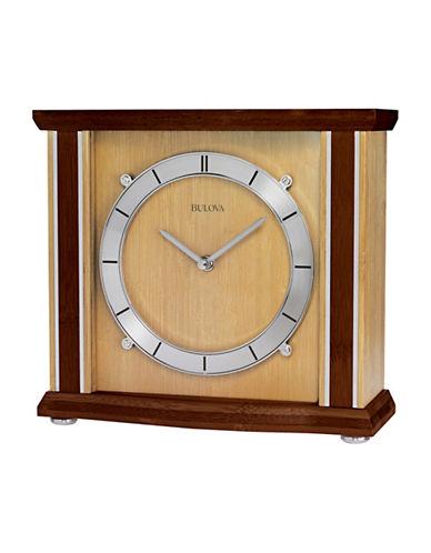Bulova Emporia Bamboo Mantel Clock-CHERRY-One Size