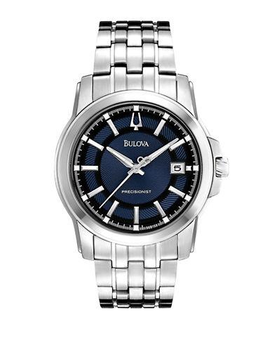 Bulova Mens Precisionist Watch-SILVER-One Size