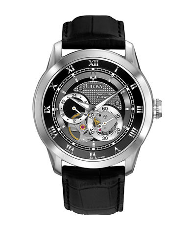 Bulova Mens Mechanical Watch-BLACK-One Size