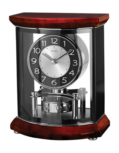 Bulova Gentry Wood Pendulum Mantel Clock-CHERRY-One Size