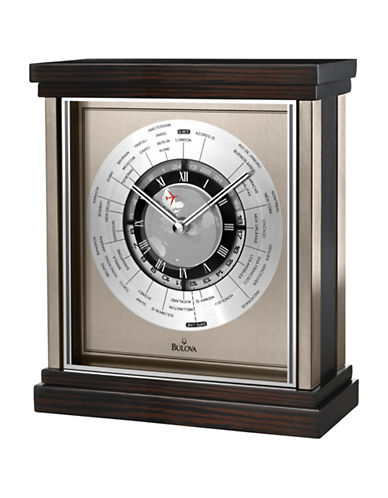 Bulova Wyndmere Wood Stainless Steel City Clock-CHERRY-One Size